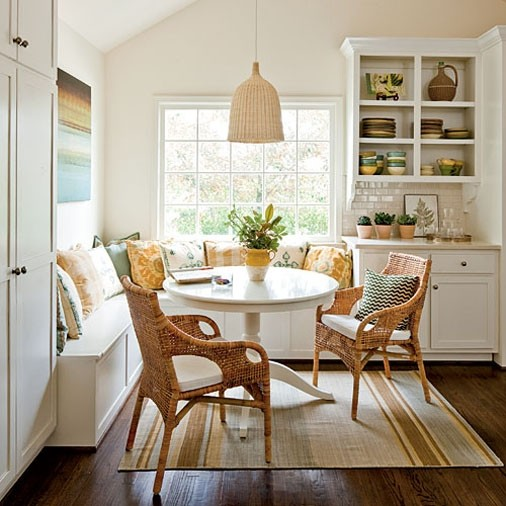 loft & cottage: furnishing the eat-in kitchen
