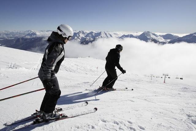 Skifahren im Ultental in Südtirol...