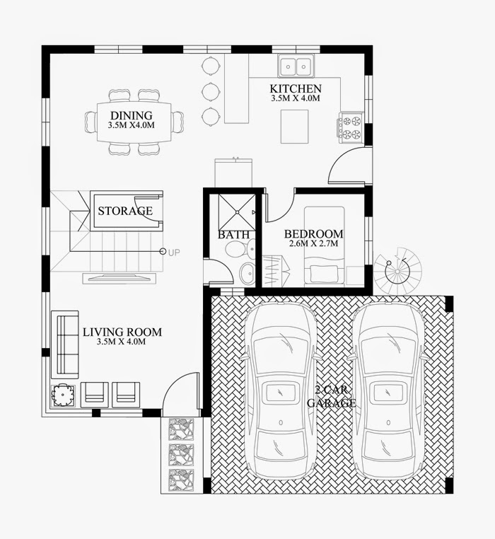 Modern duplex house designs elvations plans for 4 bedroom duplex design
