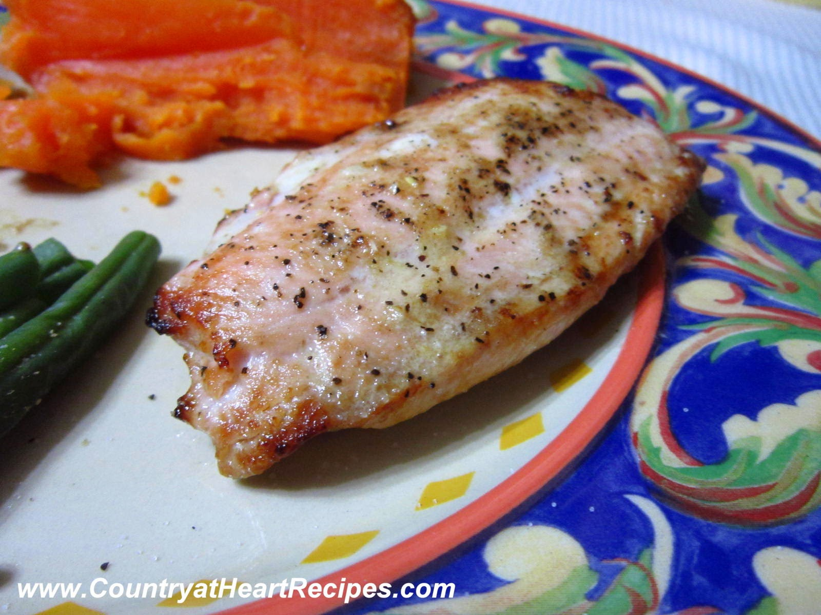 Country at Heart Recipes: Baked Salmon with Dijon Marinade