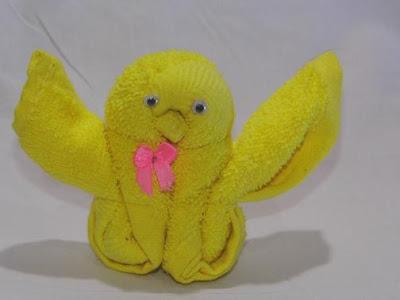 Membuat Kerajinan Tangan dari Handuk - Boneka Burung