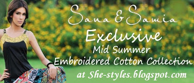 Sana Samia Winter Embroidered Collection 2012-2013