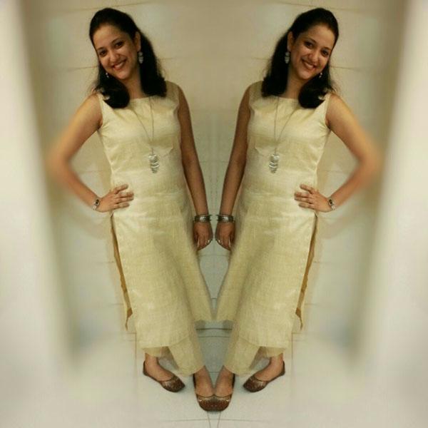 Indian straight kurta silk with ankle length palazzos