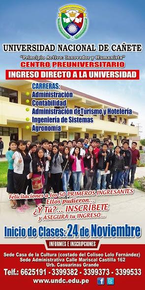 UNIVERSIDAD NACIONAL DE CAÑETE