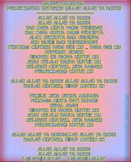 Lyric Lagu Religi 2013/1434 (Bergambar) sandy sandoro- persembahan untukmu