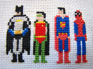 Batman und Robin, Superman, Spiderman
