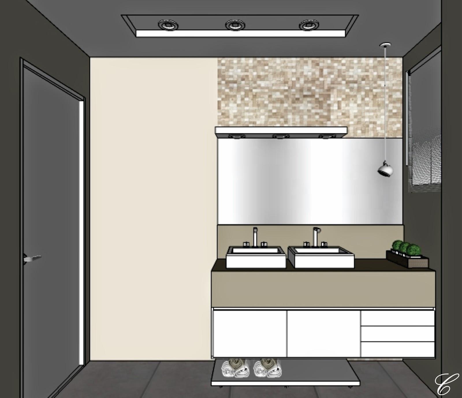 Banheiro social Espelho bem vertical   móvel com duas portas   cuba  #416038 1600 1378