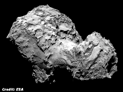 Mysterious Radio Signals cComing from Rosetta Comet