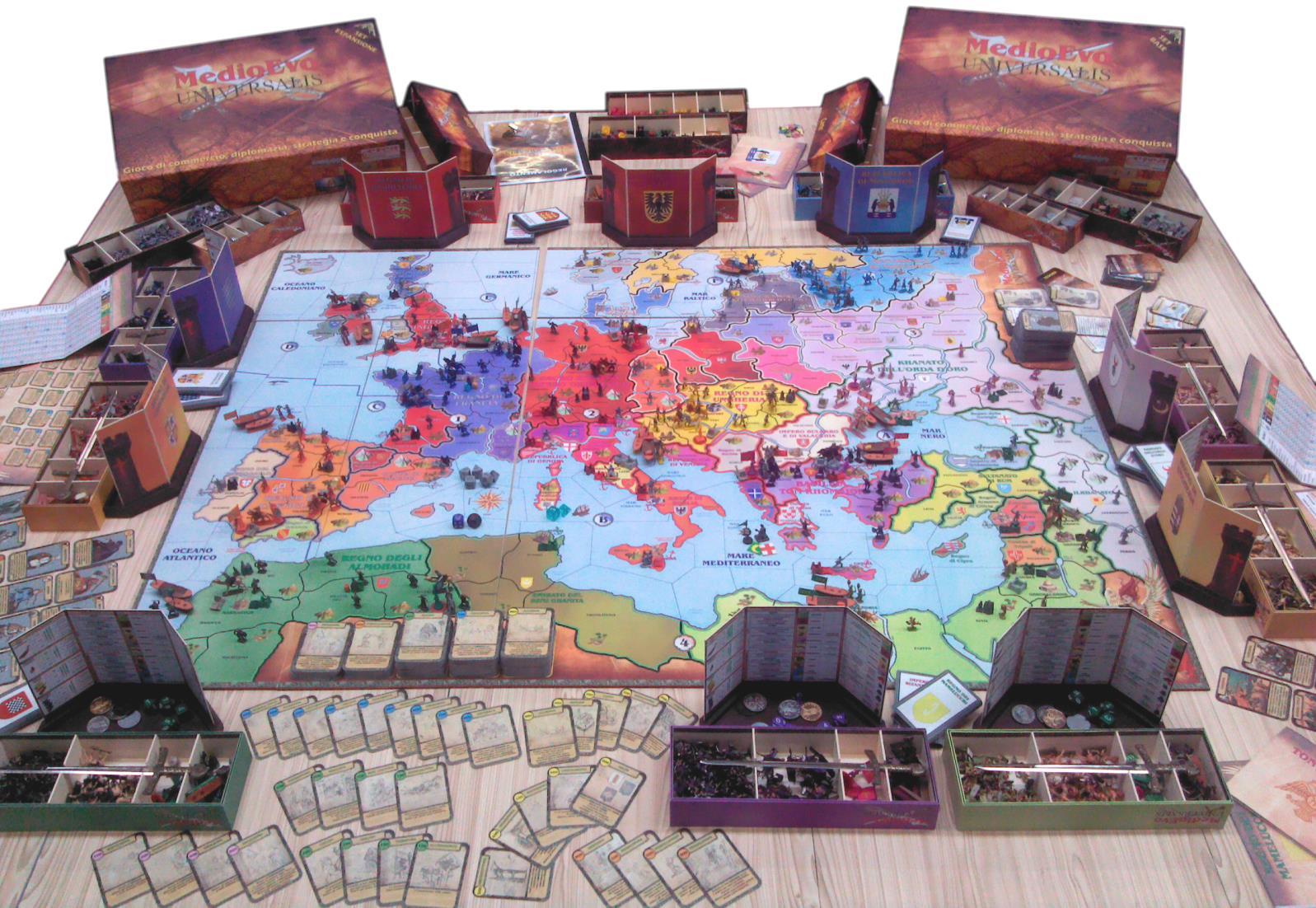 Medioevo universalis il nuovo board game sguardo sul - La battaglia dei cinque eserciti gioco da tavolo ...