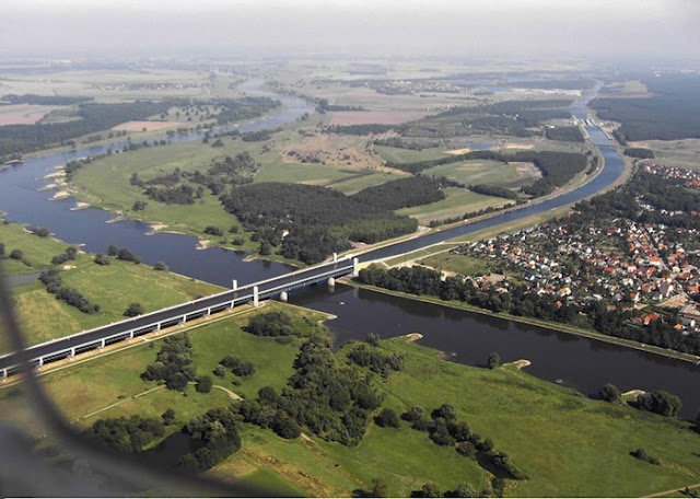 amazing river over a river in germany