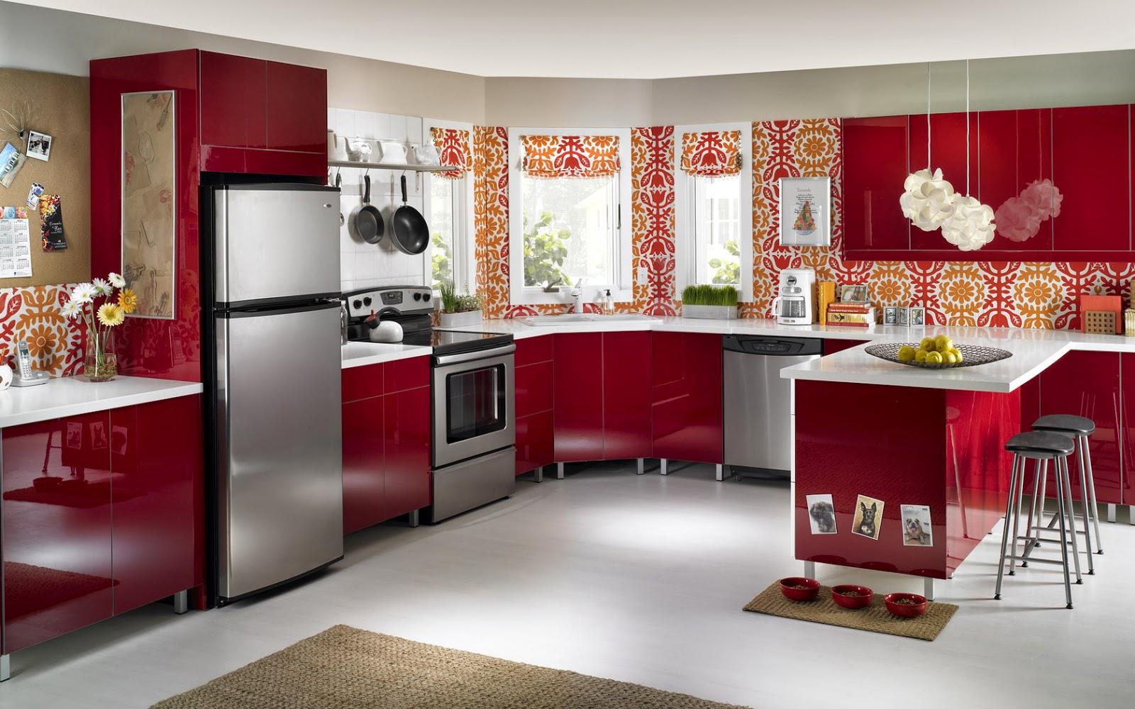 Cuisine Rouge Griotte: Nouveautes deco pour la cuisine. Meubles ...