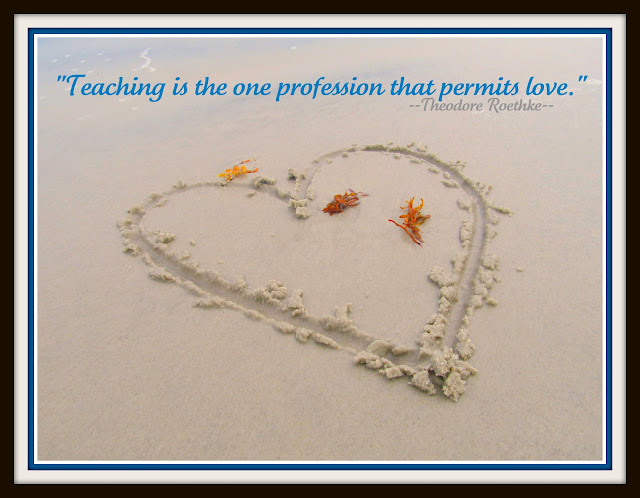 "photo of: Teaching Quote at ""PreK+K Sharing"""
