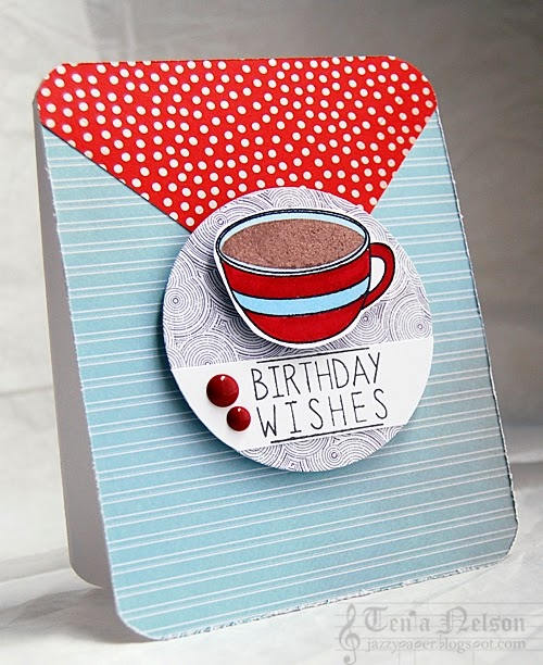Jazzy Paper Designs Coffee Birthday Wishes
