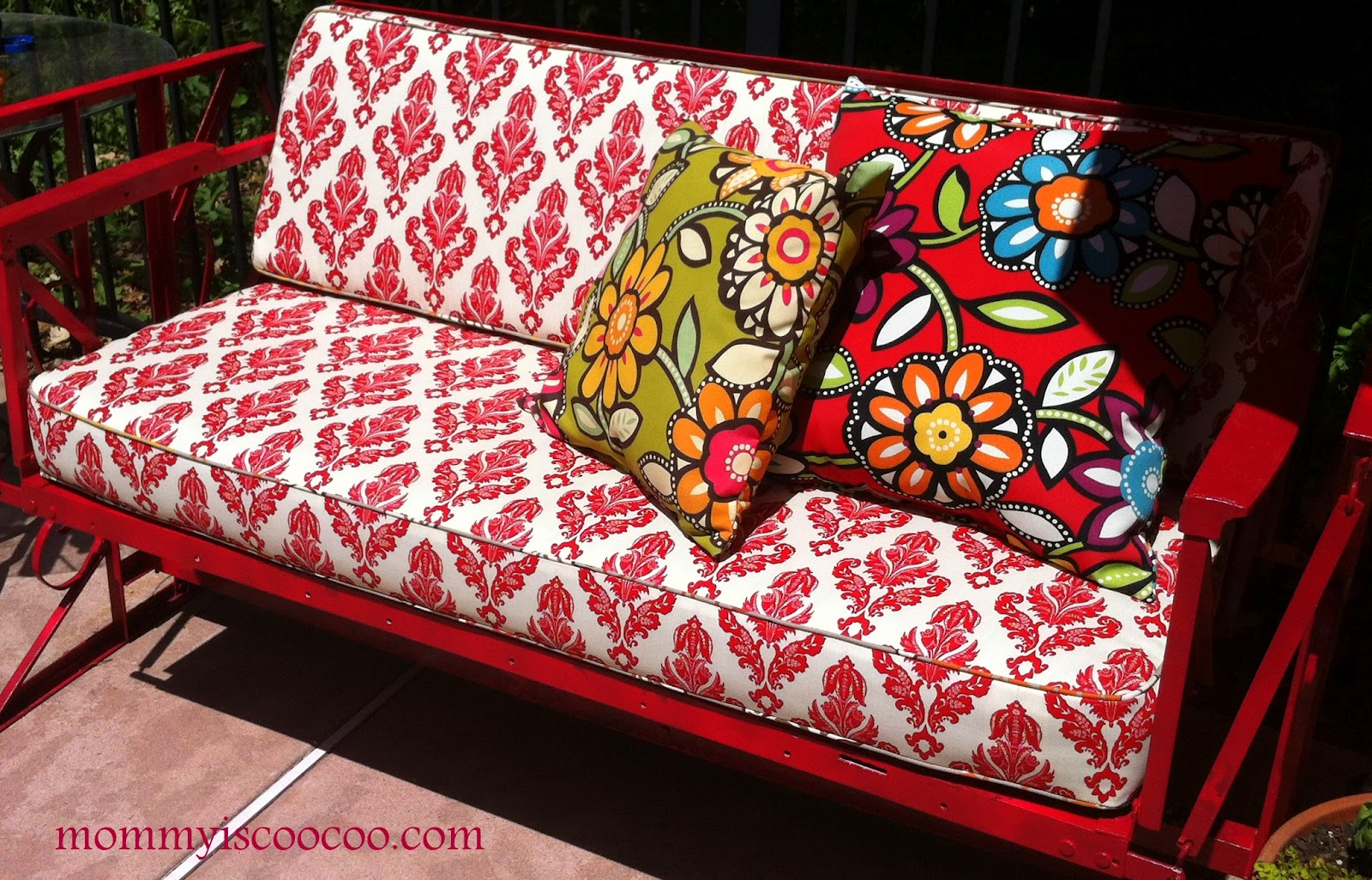 ... Patio Loveseat Glider Cushions By Vintage Glider Before And After Mommy  Is Coo Coo ...