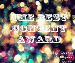Best content Award