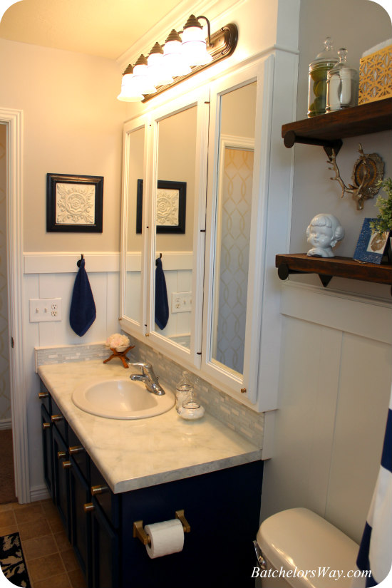 Crisp Modern Bathroom Remodel On A Budget!