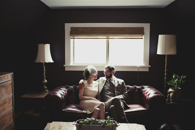 sweet and simple vintage style home wedding