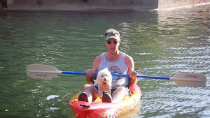 Tiffany (Now Annie) enjoys a nice kayak ride with her Dad