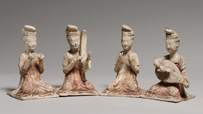 Seated Female Musicians, Tang dynasty (618–906)
