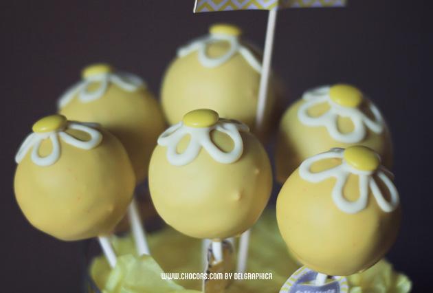 día de la madre - ramo de cakepops amarillos