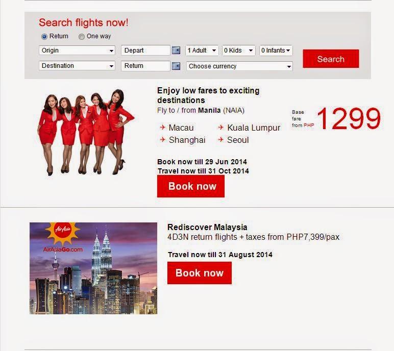 Air Asia International Flight