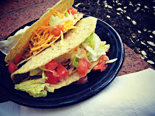 A pair of tacos at El Pinto Restaurant in Albuquerque, New Mexico