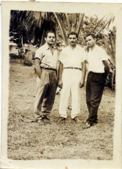 Os Irmãos Theodósio no Lago do Machado tirada por Euclides Theodósio em 1958.