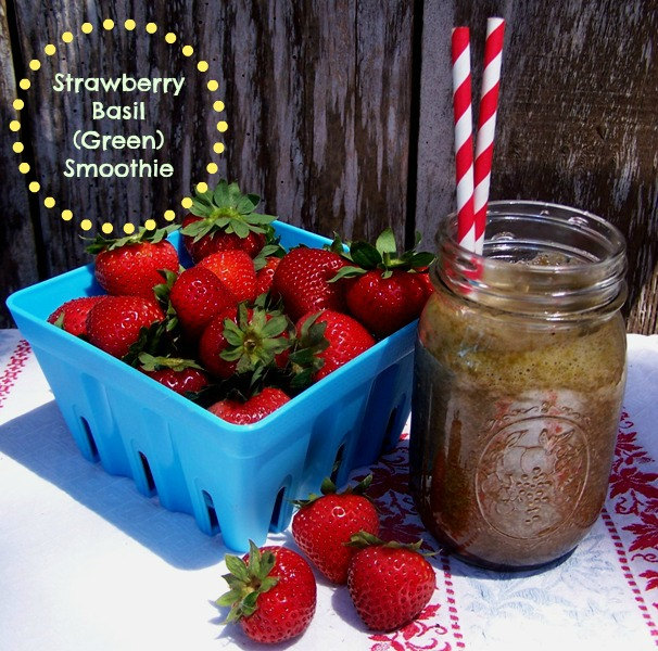 #FreshFinds Strawberry Basil Green Smoothie