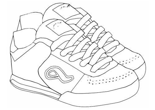 Deportes para colorear: Zapatos de deportes para colorear
