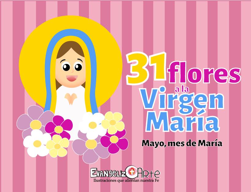 Flores a la Virgen María