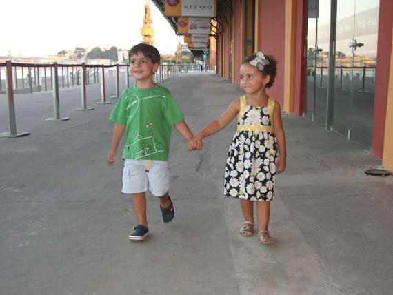 Meus fofinhos passeando no Pier Maua