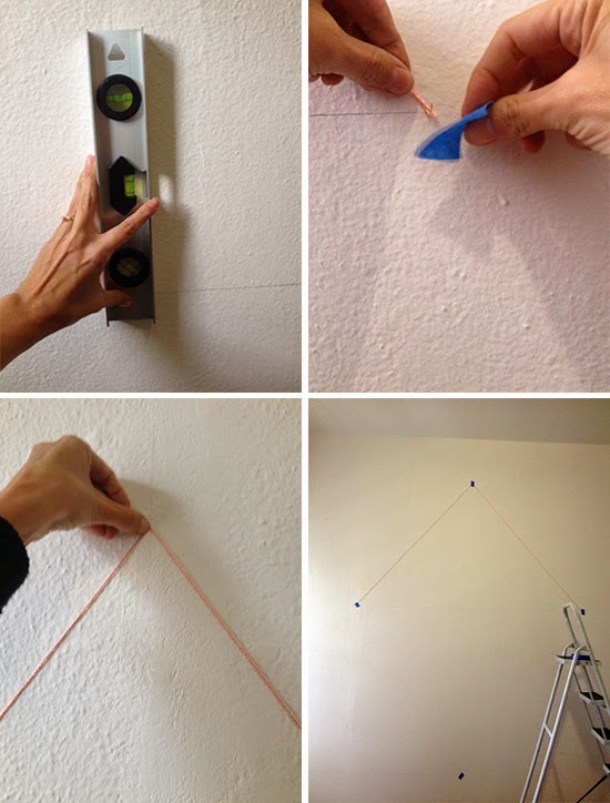fazer desenho geometrico na parede