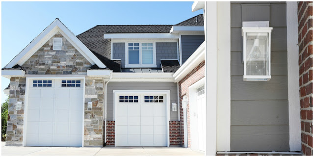 Berkshire Carriage House Garage Doors White Craftsman Exterior Lights