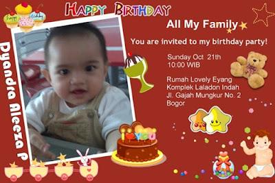 Desain kartu undangan ulang tahun anak lucu dan unik banget