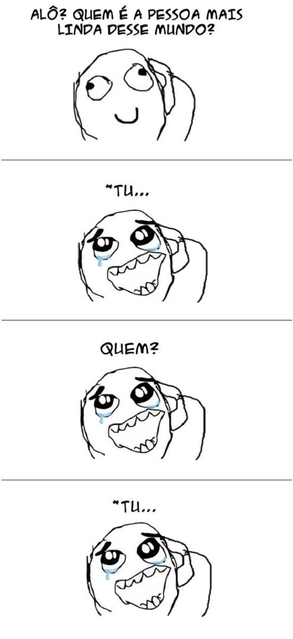 Tirinha do blog Vida de Meme: Quem é a pessoa mais linda?