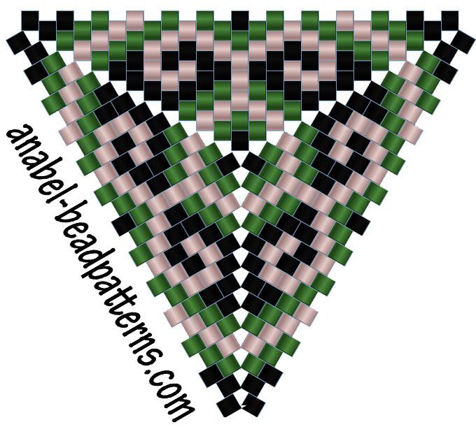 схемы бисерных треугольников