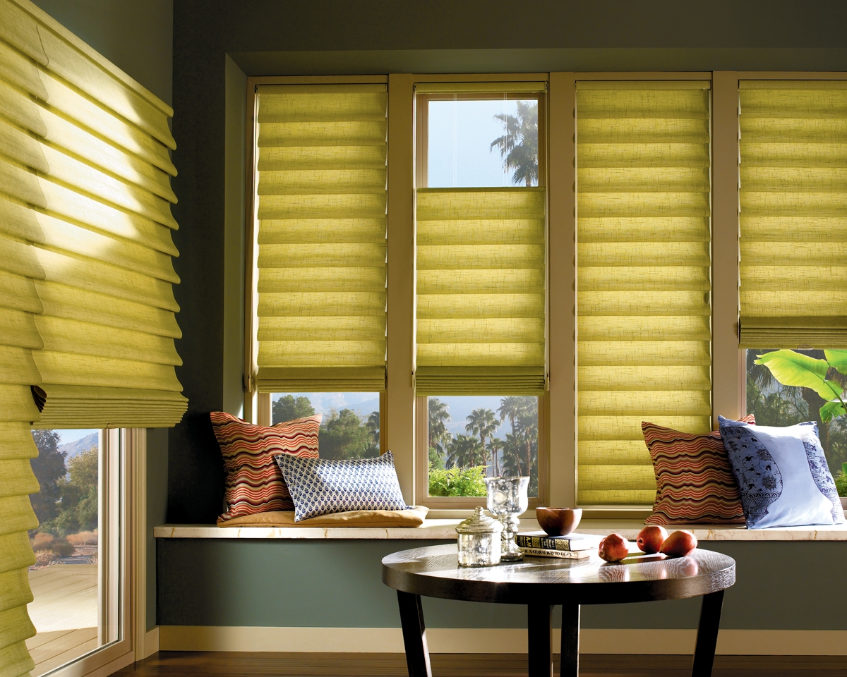 Window fashions vignette modern roman shades for Shades and window treatments