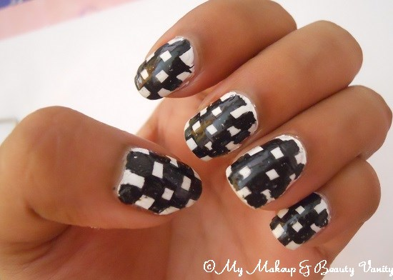checkered nail art tutorial+nail art tutorial+nail art+nail+tutorial+checkered+nail art designs