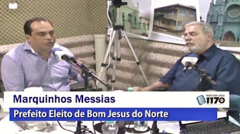 Bom Jesus do Norte | Vídeo: Entrevista completa com o prefeito eleito Marquinhos Messias na Rádio B