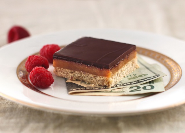 Healthy Millionaire's Shortbread Bars (low sugar, gluten free, vegan)