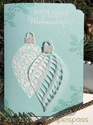 Weihnachtskarte Zauberhafte Zierde