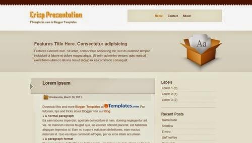 Crisp Presentation - Free Blogger Template