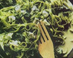 Receta Cintas verdes con Espinacas