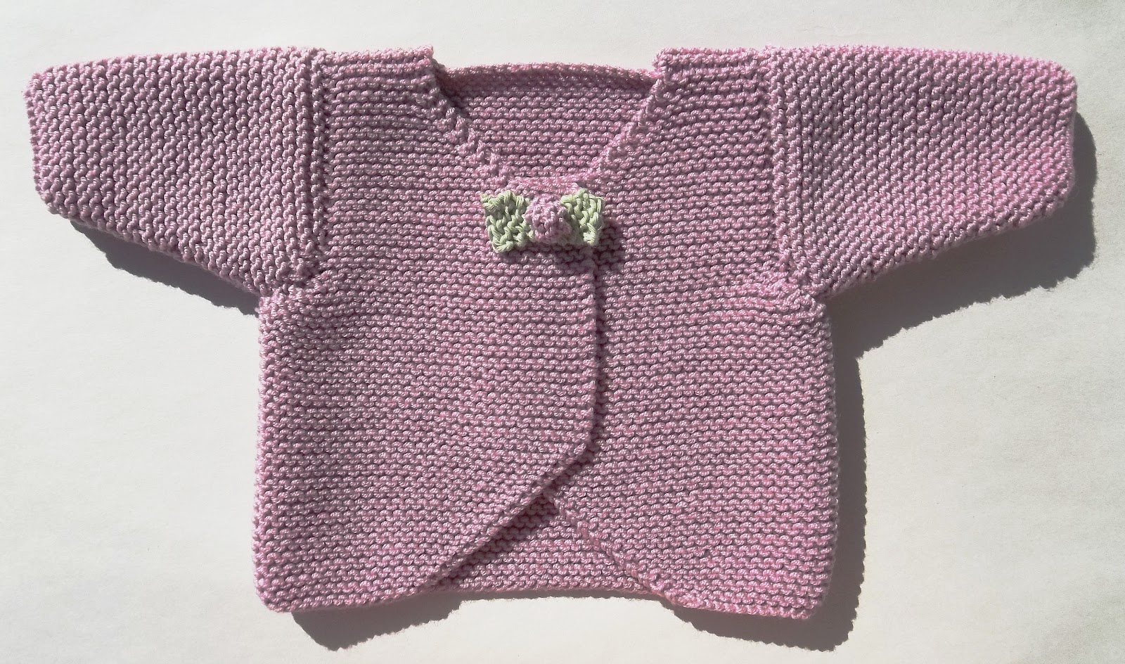 Knitting Pattern Baby Cardigan Newborn : Baby Rosebud Cardigan Hand Knitting Pattern
