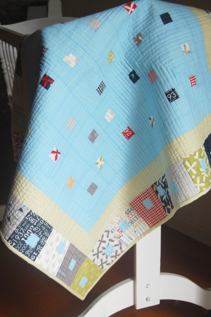 Kate Conklin Designs: Gathered In - Modern Baby Quilt Pattern