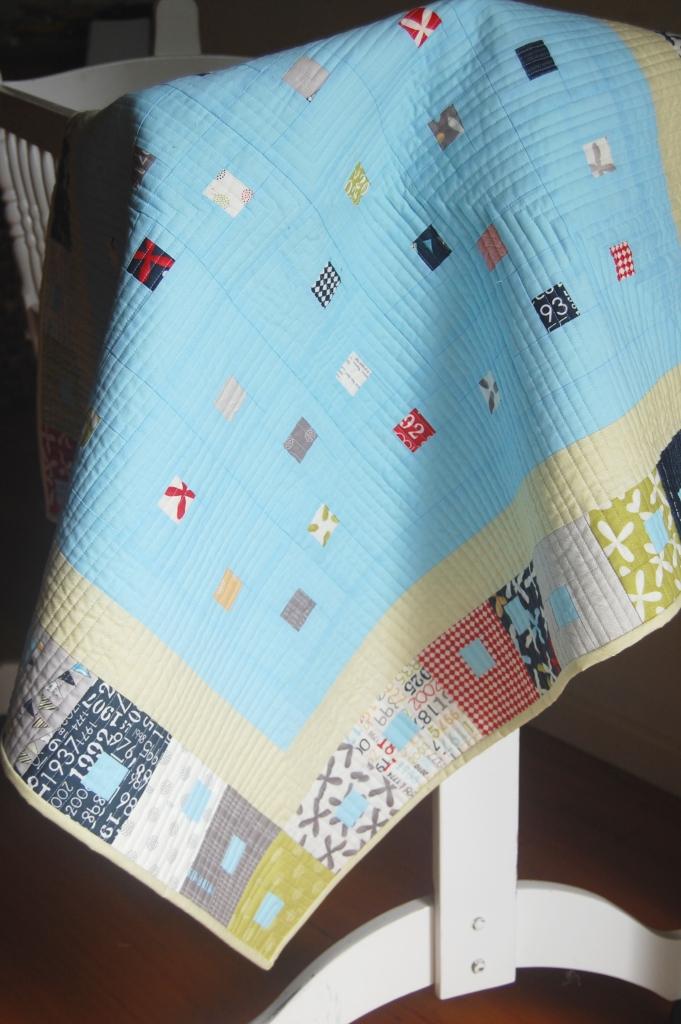 Modern Nursery Quilt Patterns : Kate Conklin Designs: Gathered In - Modern Baby Quilt Pattern