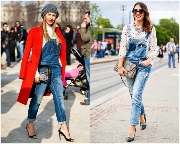Jardineira Linda Looks Como Usar Jeans Comprida Calça Scarpin Chique Moderno