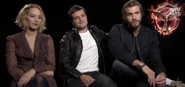jennifer lawrence josh hutcherson liam hemsworth mockingjay