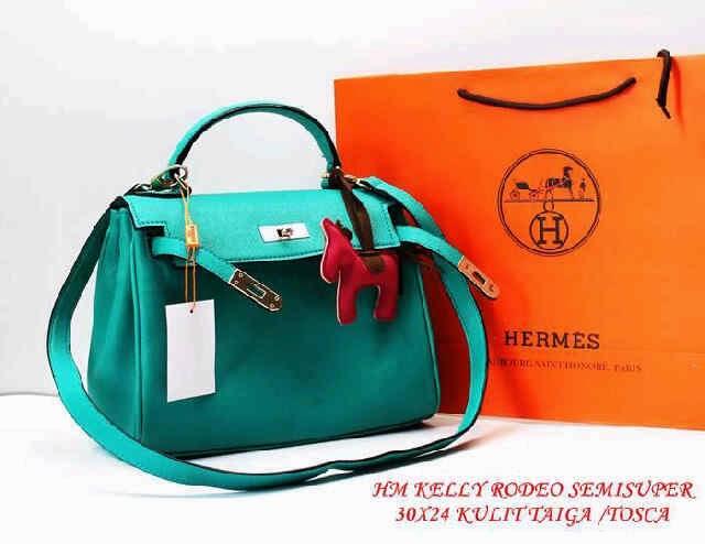 Tas Hermes terbaru Tas Hermes kelly rodeo coklat orange merah tosca ungu hitam supplier eceran grosir tas harga murah