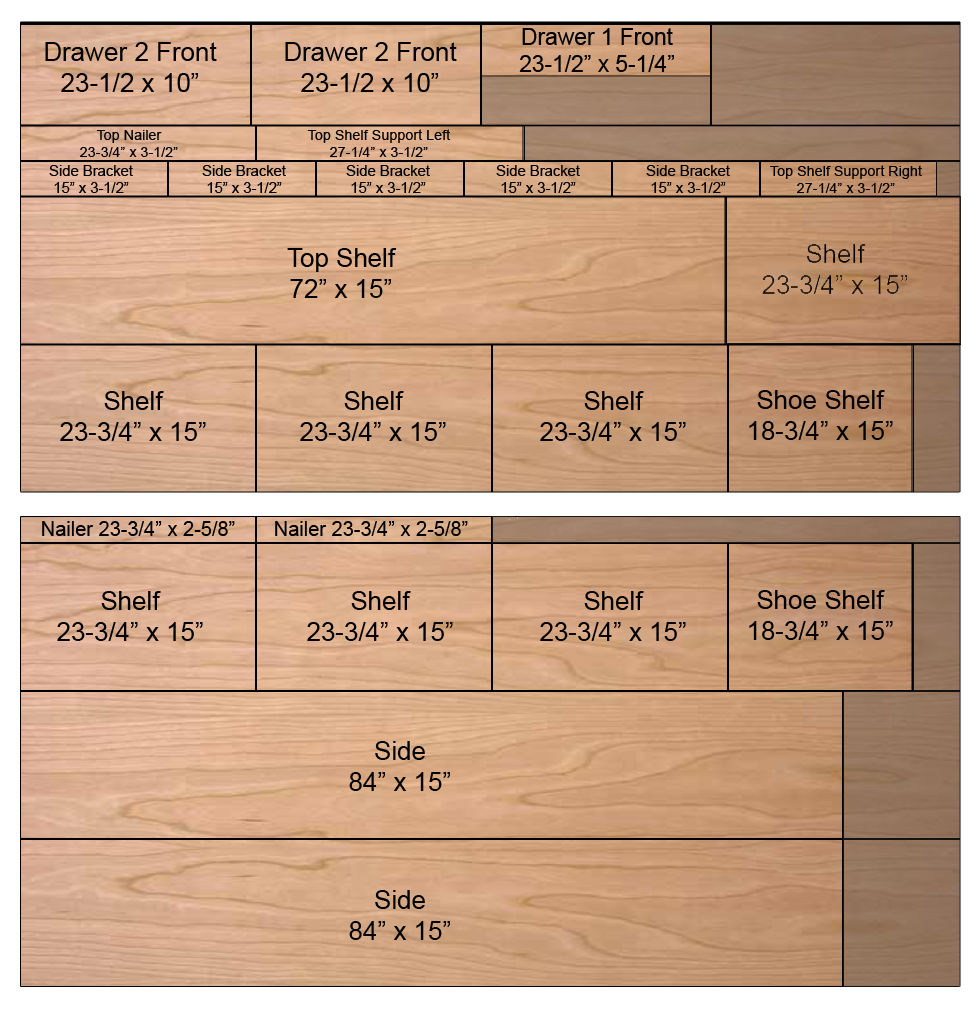 Woodworking diy wood closet organizer plans PDF Free Download